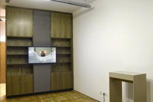 "secret.service, 2015 (video, 8:20min) & untitled, 2016 (showcase, handmade paper from shredded ""Stasi""- documents)"
