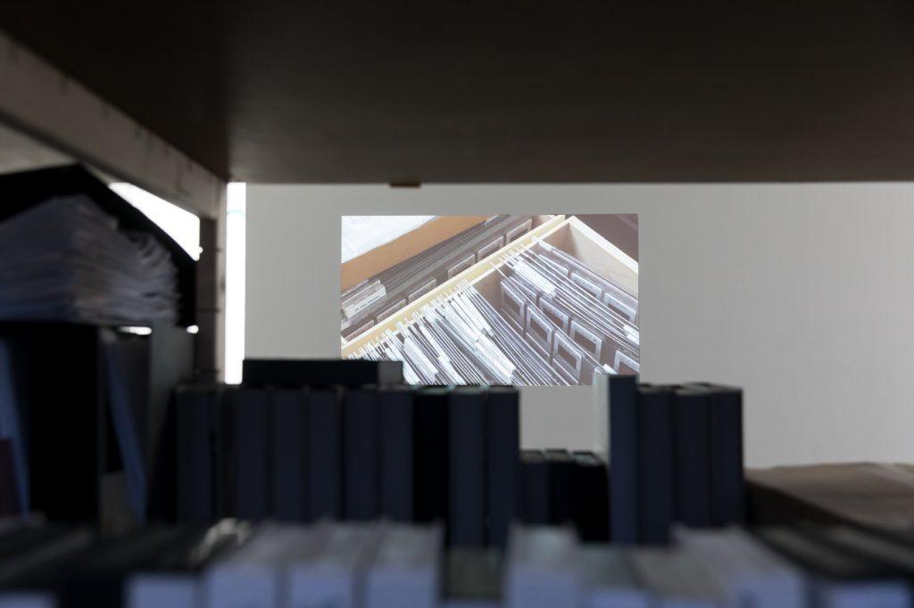 installation view, Master Scan, 2016 (video, 9:00min )