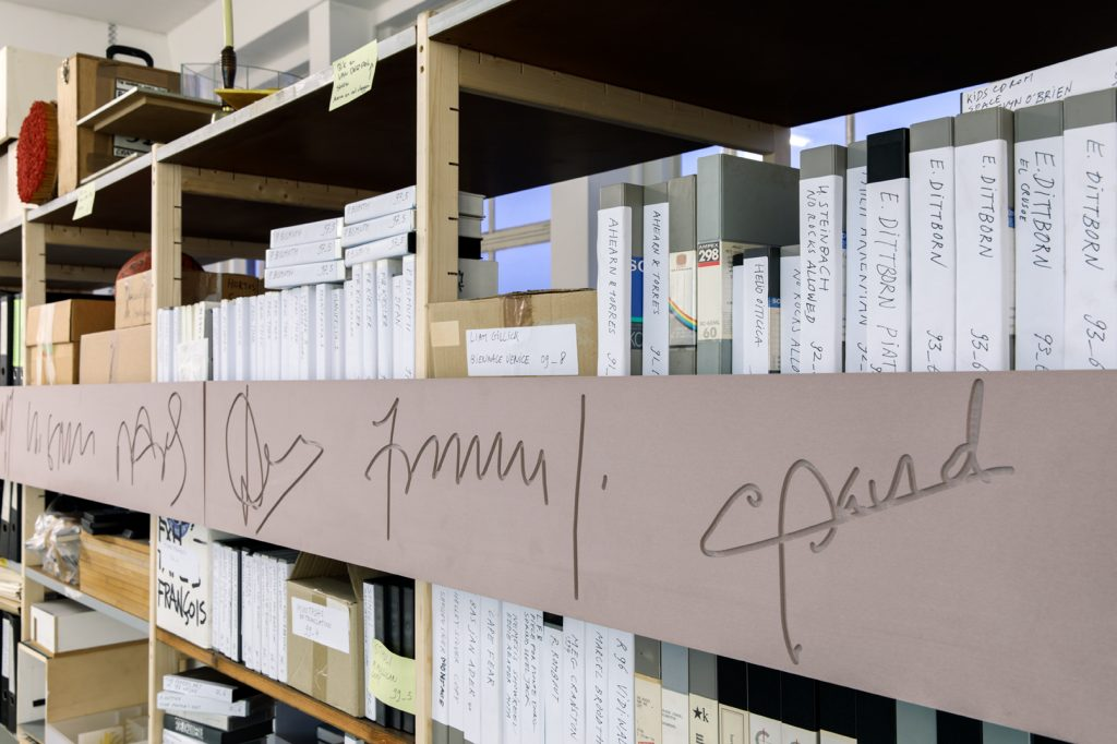 Signatures, 2016 (CNC milled artificial resin)