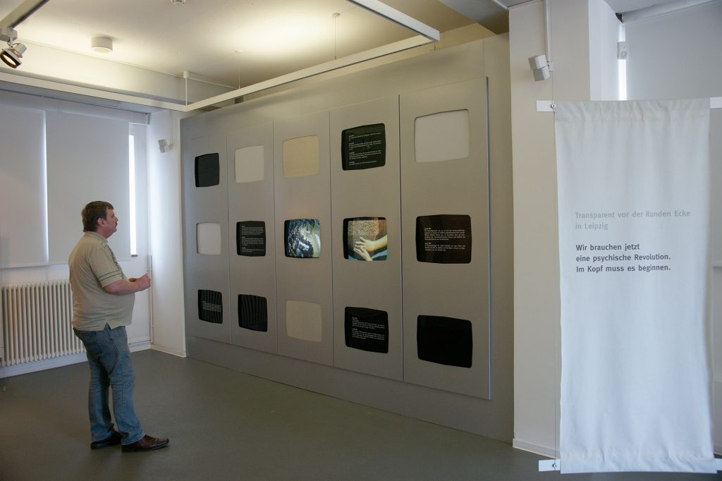"exhibition view ""Encounter""at Gedenkstätte Deutsche Teilung Marienborn, Germany"